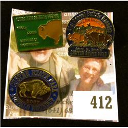 (3) Custer State Park Buffalo Roundup Pins – 2005, 2006 & 2007