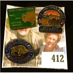 (3) Custer State Park Buffalo Roundup Pins – 2005, 2006 & 2007