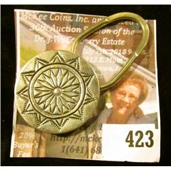 Sterling silver key ring, Southwestern design, marked STERLING