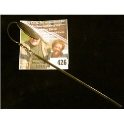 Sterling silver bookmark, engraved disc affixed to a curved, twisted flat piece of sterling. Engrave
