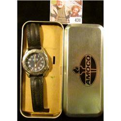 Amoco wristwatch, in original box. Needs a battery.