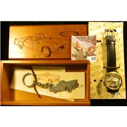 Relic 1955 Thunderbird 40th anniversary watch, with keychain, in box. Needs a battery.