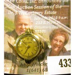 Bulova ladies watch, 7AF, 7 jewels in a 10K RGP case. Needs repair, for parts or repair.