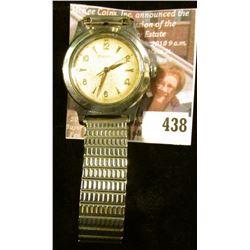 Vintage Bulova wristwatch, winds, runs, keeps time. Case # C058258.