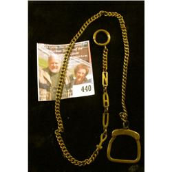 Vintage watch chain, has the word NAVY spelled out in links near the watch end of the chain. Great f