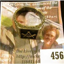 Sterling Masonic Ring, size 11, marked STERLING