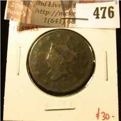 1817 13 stars Large Cent, G, value $30