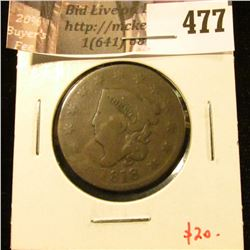 1818 Large Cent, G+, value $20