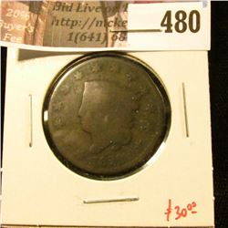 1822 Large Cent, G, value $30