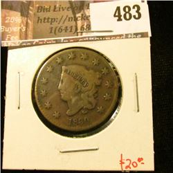 1830 Large Cent, G+, value $20