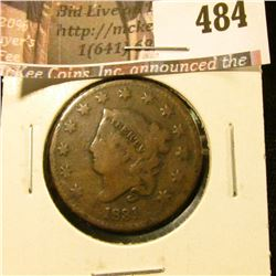 1831 Large Cent, G, value $20
