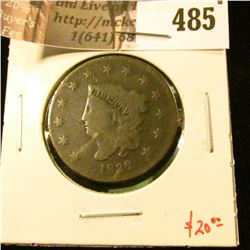 1832 Large Cent, G+, value $20