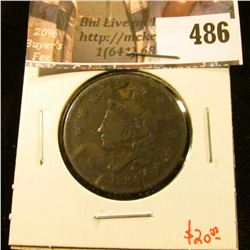 1834 Large Cent, G, value $20