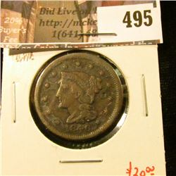 1846 small date Large Cent, G, value $20