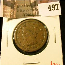 1848 Large Cent, G, value $20