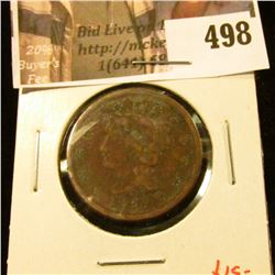 1849 Large Cent, G, value $15