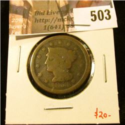 1854 Large Cent, G, value $20