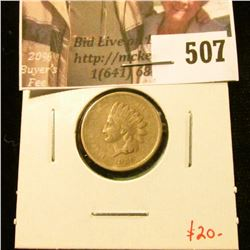 1859 Indian Head Cent, VG, value $20