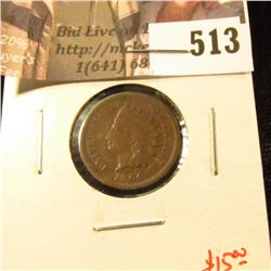 1864 Bronze Indian Head Cent, G, value $15