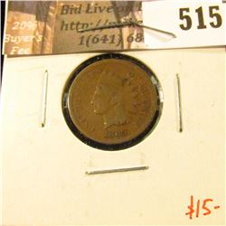 1865 Indian Head Cent, G+, value $15