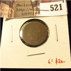 1873 Indian Head Cent, AG, G value $20