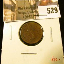 1881 Indian Head Cent, VF, value $10
