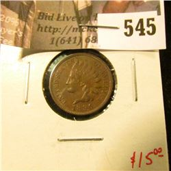 1896 Indian Head Cent, XF, sharp! value $15