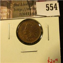 1902 Indian Head Cent, AU, value $20