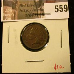 1907 Indian Head Cent, XF+, value $10