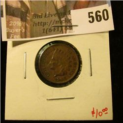 1908 Indian Head Cent, XF, value $20