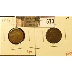 (2) Lincoln Cents, 1916 VF & 1916-S XF, value for pair $27