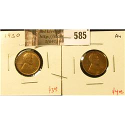 (2) Lincoln Cents, 1930 AU+ & 1930-D AU, value for pair $7