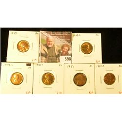 (6) Lincoln Cents, 1948-D, 1949, 1949-S, 1950-S, 1951, 1951-D, all BU, group value $15