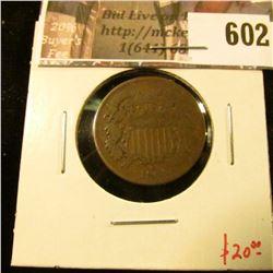 1864 2 Cent Piece, VG, value $20