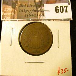 1870 2 Cent Piece, G+, value $35