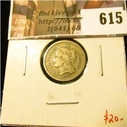 1867 3 Cent Nickel, VG, value $20