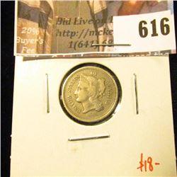 1868 3 Cent Nickel, VG, value $18