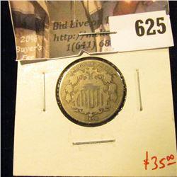 1870 Shield Nickel, VG, value $35