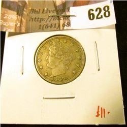 1883 NO CENTS V Nickel, VF30, value $11