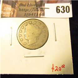 1883 with CENTS V Nickel, G, tougher variety than the NO CENTS variety, G, value $20