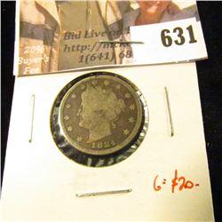 1884 V Nickel, G dark, G value $20