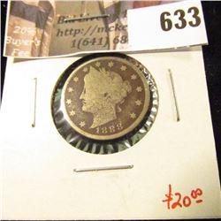 1888 V Nickel, G dark, value $20