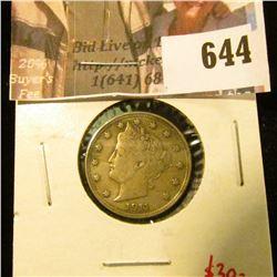 1911 V Nickel, XF, value $30
