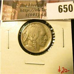 1913-D Type 1 (Mound) Buffalo Nickel, VG, value $20