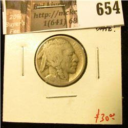 1914-S Buffalo Nickel, G+, full date, value $30+