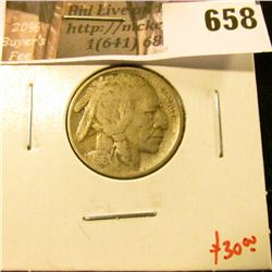 1916-D Buffalo Nickel, F, value $30