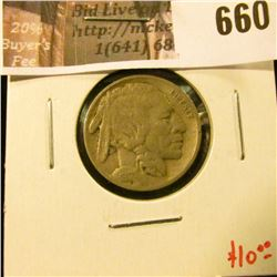 1917 Buffalo Nickel, F, value $10