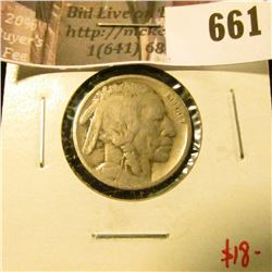 1917-D Buffalo Nickel, G, value $18
