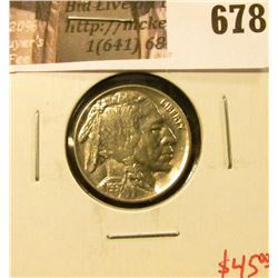 1937 Buffalo Nickel, BU, GEM! value $45+