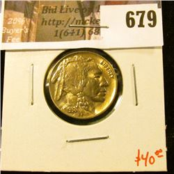 1938-D Buffalo Nickel BU toned, value $40+